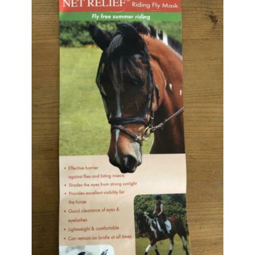 Net relief riding fly mask -Equilibrium