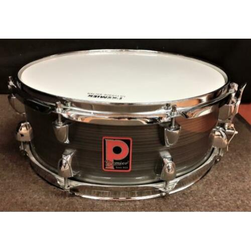 Premier Powerhouse Snare Drum 14 x 5.5 - Gray Silver Groove